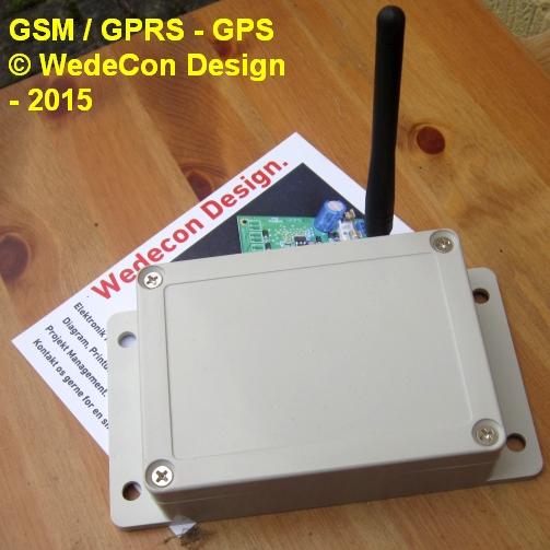 GSM Kontrol Elektronik overvågning Udvikling Prototype Dan